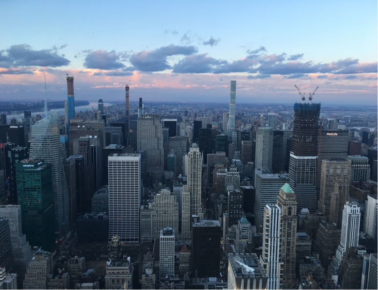 Vue sur New York du sommet de l'Empire State Building. Photo (c) Anne-Sophie Leroy.