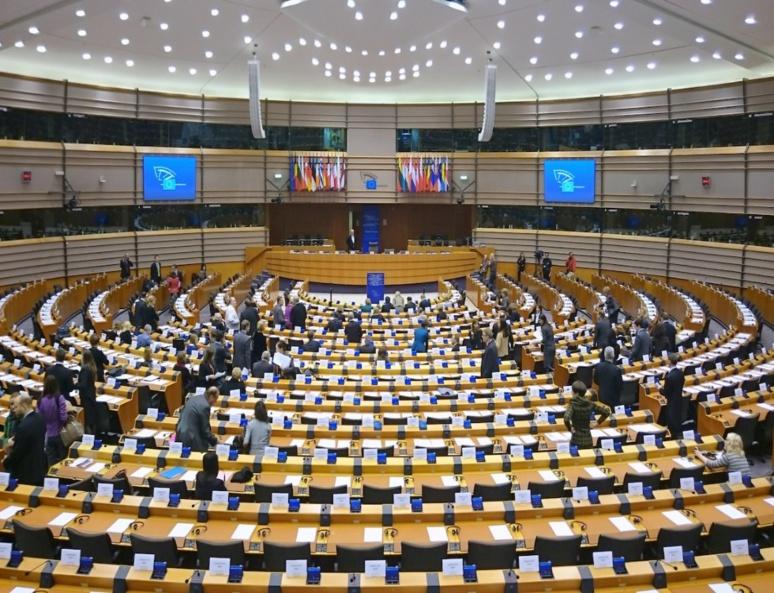 L'hémicycle du Parlement européen à Bruxelles. Photo : Treehill