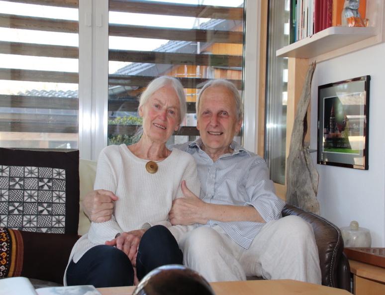 Maria et Dieter, un couple allemand à la retraite. (c)  Erick Salemon Bassène