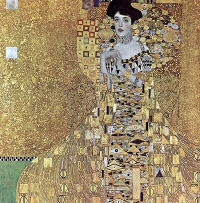 Portrait d'Adèle Bloch-Bauer, peinture à l'huile sur toile avec or et argent, par Klimt en 1907.