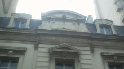 La Sociétédes Cendres du Marais. Façade 39, rue des Francs-Bourgeois dans le Marais à Paris. Photo: Jean-Louis Courleux