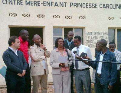 Jérôme Froissart, Directeur de la Coopération Internationale, Francis Kasasa, Secrétaire général de l'AMADE Mondiale, Spès Nihangaza Présidente de l'AMADE Burundi. Photo courtoisie.