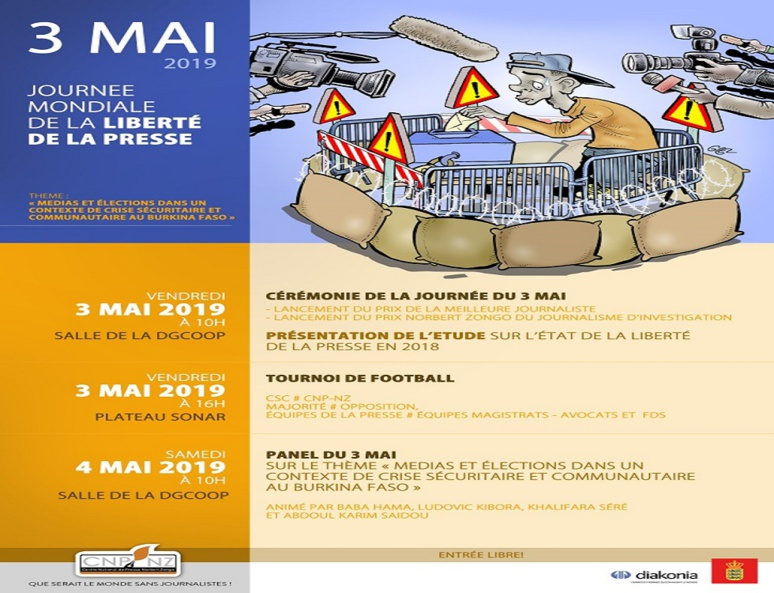 Programme du 3 mai au Burkina Faso. (c) CNP-NZ