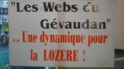 Les webs du Gévaudan s'affichent à Ruralitic (c) Jean-Louis Courleux