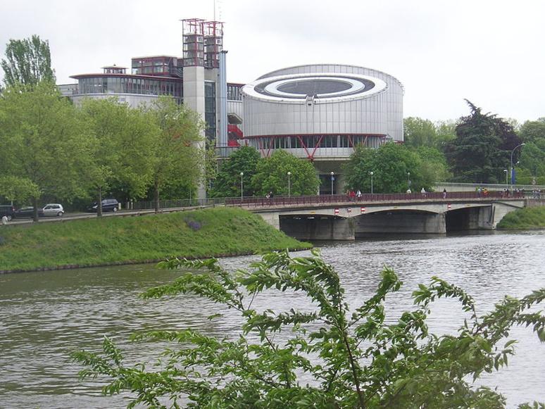 Cour européenne des droits de l'homme, vue depuis le parlement européen (c) Flammekueche