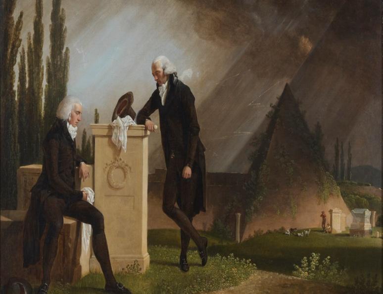 """""""Élégie romaine"""" de Jacques Sablet (1791, huile sur toile, 62 × 74 cm). (c) Musée des beaux-arts de Brest métropole"""