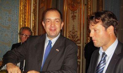 Xavier Audran, ambassade des USA et Frédéric Courleux, Centre études et prospective Ministère de l'agriculture, France. Photo (c) Jean-Louis Courleux