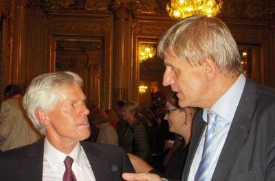 Nico Van Opstal, ambassade Pays Bas, vice-président, Amicale des attachés agricoles en France et Martin Nissen, ambassade d'Allemagne. Photo (c) Jean-Louis Courleux