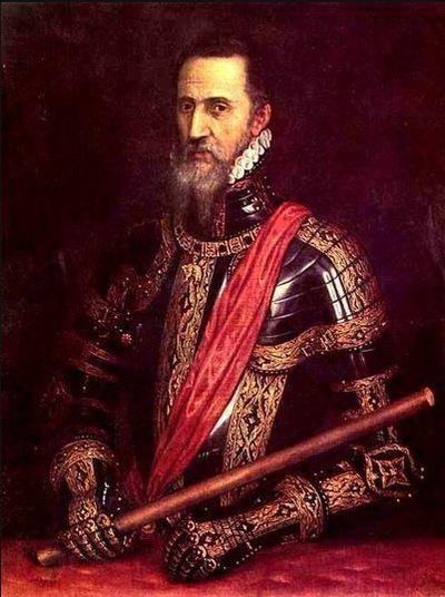 Don Fernando Álvarez de Toledo, 3e duc de Albe,1507-1582, peinture du Titien, actuellement au palais de Liria, résidence de la famille d'Albe à Madrid.