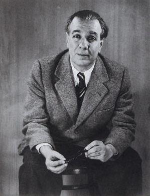 Jorge Luis Borges photographié par Grete Stern en 1951, il avait alors 52 ans et mourra en 1986.