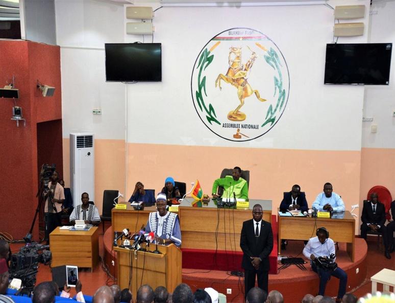 Le PM Christophe Dabiré durant son allocution. (c) Premier ministère