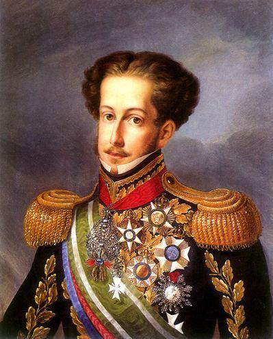 Dernier portrait de Dom Pedro I vers 1830,  huile sur toile  au musée imperial de Petrópolis