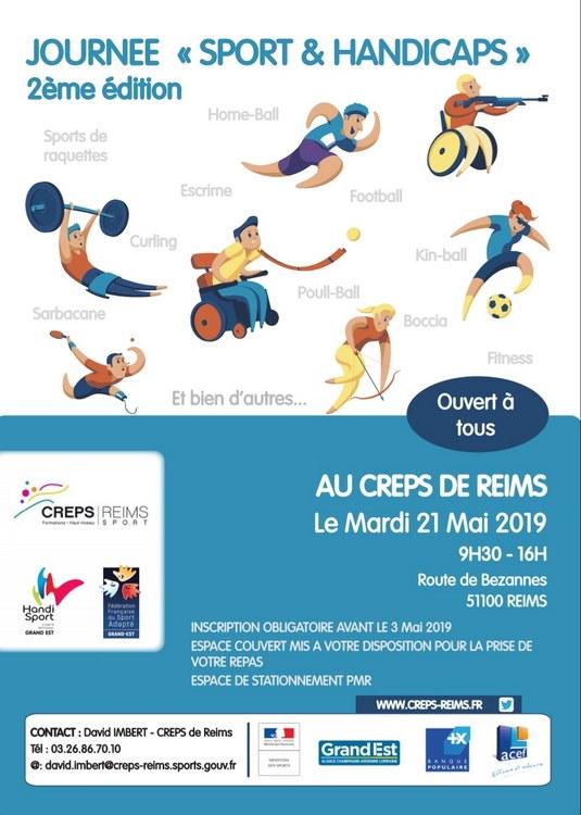 Affiche de la 2e édition Sport et handicaps (c) Creps de Reims