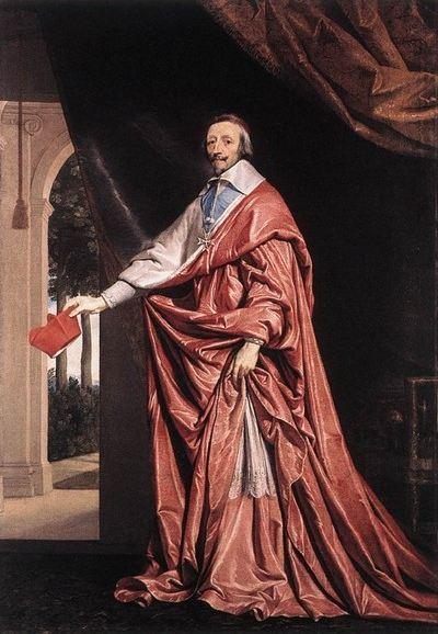 Portrait d'Armand Jean du Plessis, cardinal-duc de Richelieu et de Fronsac, peint vers 1637 par Philippe de Champaigne, actuellement à la National Gallery de Londres