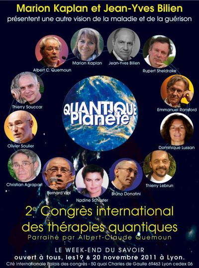 2e Congrès International des thérapies quantiques Lyon 19-20 novembre 2011