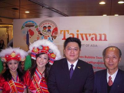 Wayne Hsi-Lin Liu, office du tourisme de Taiwan à Taipei, ambassadeur S.E Michel Ching-long Lu représentant de Taiwan en France (c) Jean-Louis Courleux