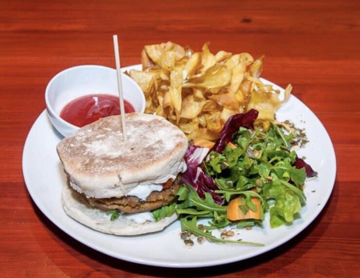 Burger végan - Crédit : Jardim dos Sentidos