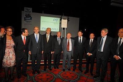 Alain Belhassen, président du CRIF Sud-Est, entouré de ses invités