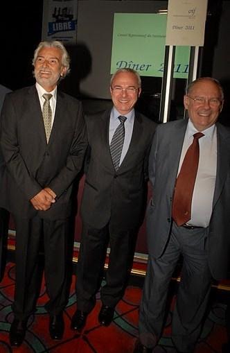 De gauche à droite: Alain Belhassen, Jean Léonetti, Richard Prasquier