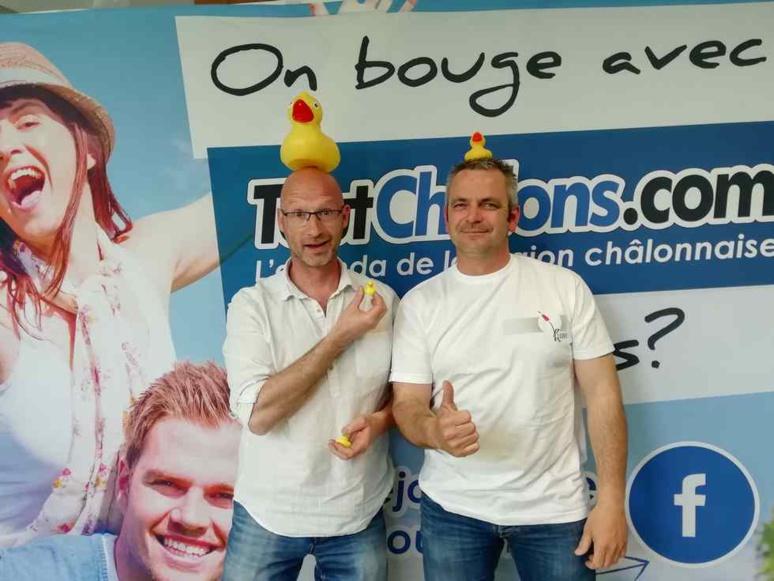 À Châlons-en-Champagne, la 3e Duck Race se prépare dans la joie et la bonne humeur (c) M. Cugnot