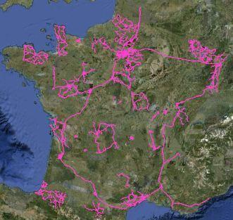 Carte fibre optique CELESTE en France