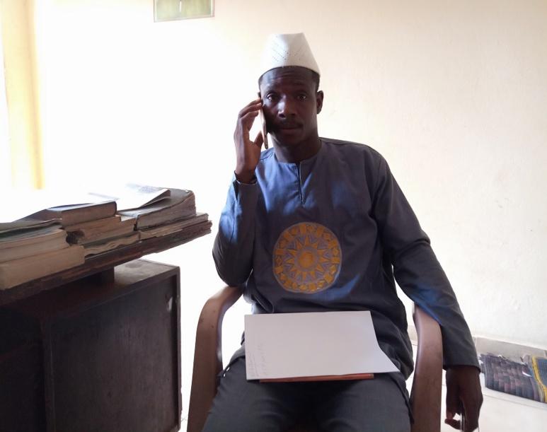 Diallo Moussa, vice-président du réseau central de l'alphabet N'Ko . (c) Boubacar Barry