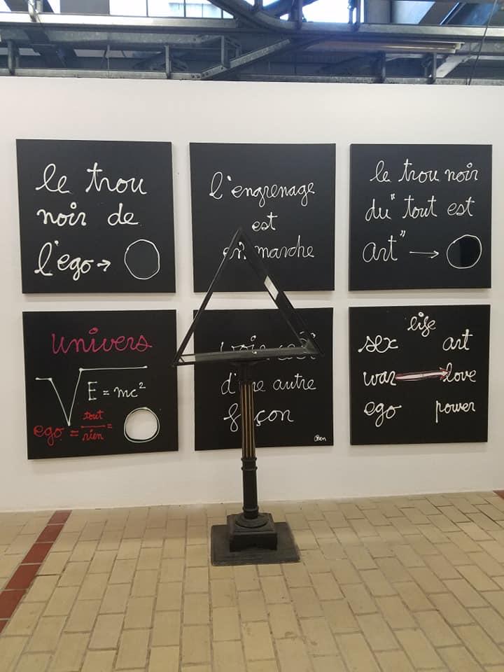 Les phrases Ben exposées sous différentes formes. (c) Sarah Barreiros.