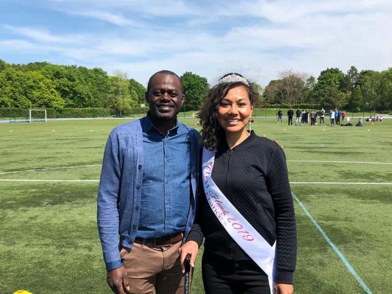 Gislain Boungou-Boko, président de la F.F.Footscem aux côtés de Miss handi France 2019, marraine de la fédération / (c) F.F.Footscem