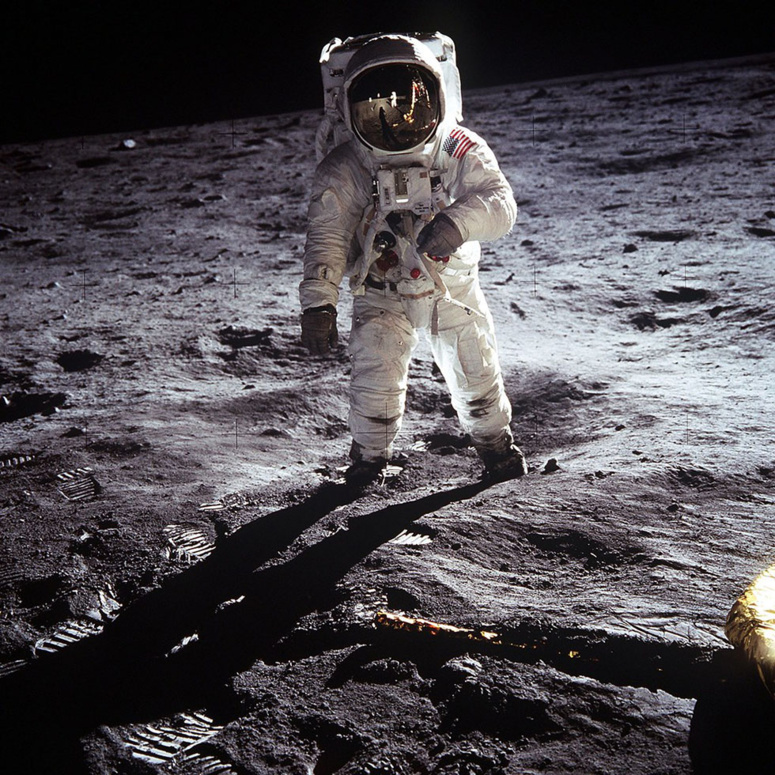 Buzz Aldrin sur la Lune. Photo (c) NASA Human Space Flight Gallery