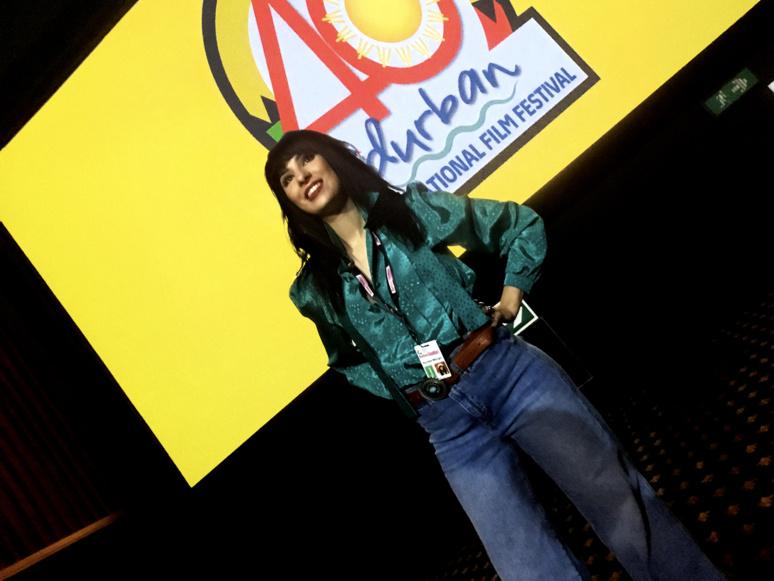 """Aurélia Mengin, 1ère réalisatrice réunionnaise de film de fiction, représentait la France avec son film """"Fornacis"""" à la 40ème édition du Festival International de film de Durban qui s'est tenu du 18 au 28 juillet 2018 - © Aurélia Mengin"""