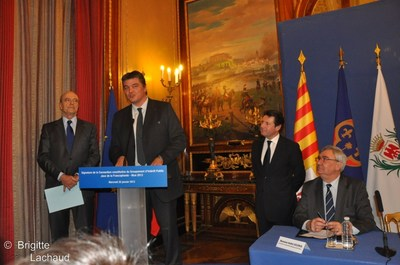 Jeux de la francophonie 2013 - Signature de la convention constitutive