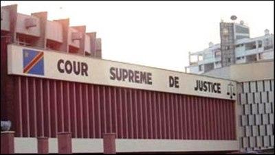 Bâtiment  de la cour Suprême de Justice à Kinshasa. Photo: Blaise Sanyila N.