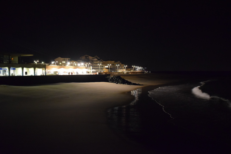 Le Belharra Café de Capbreton vu de nuit © Fanny Jacob
