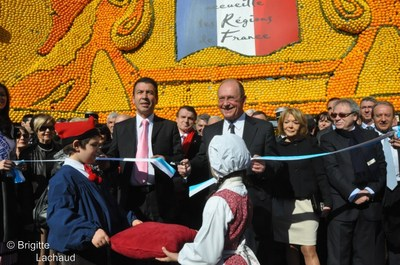 Le sous-préfet de Montagne, Raymond Floc'h avec Jean-Claude Guibal, député-maire de Menton