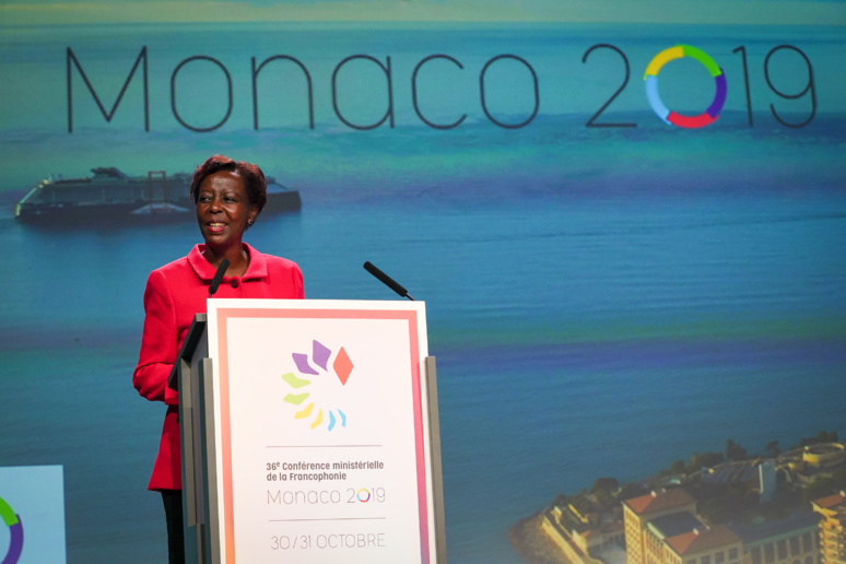 Phoro crédit: Antoine Jamonneau. Louise Moushikiwabo, SG de la Francophonie.