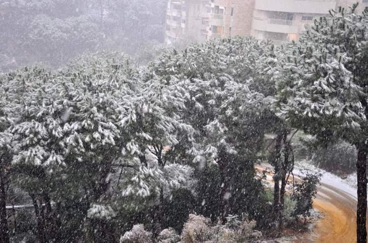 La neige qui revient. Photo (C) Ibrahim Chalhoub