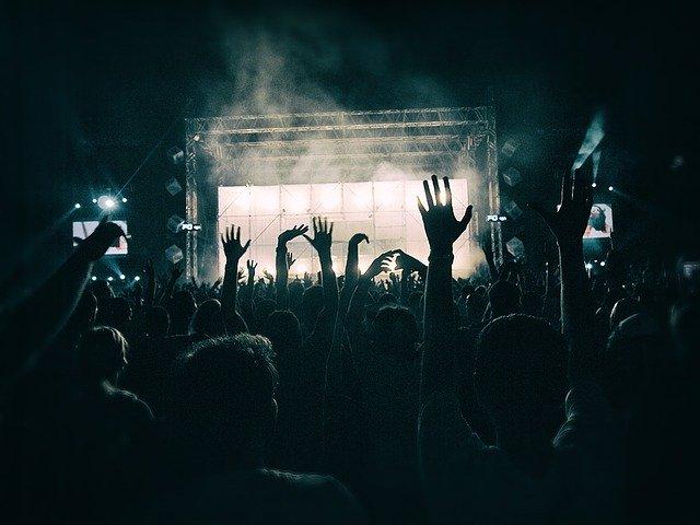 Raveurs profitant d'une free party (c) Pixabay
