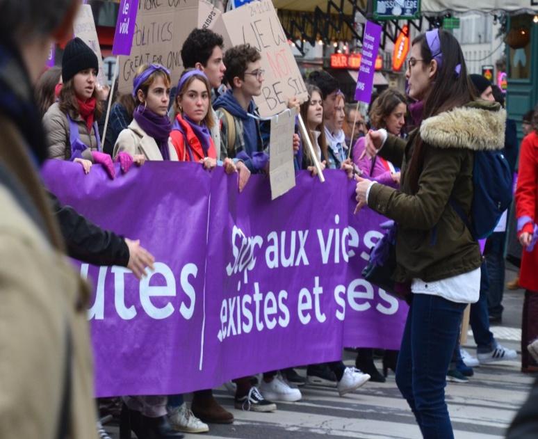 Manifestation contre les violences sexistes et sexuelles lors de la journée mondiale de la femme le 8 mars (c) Jeanne Menjoulet