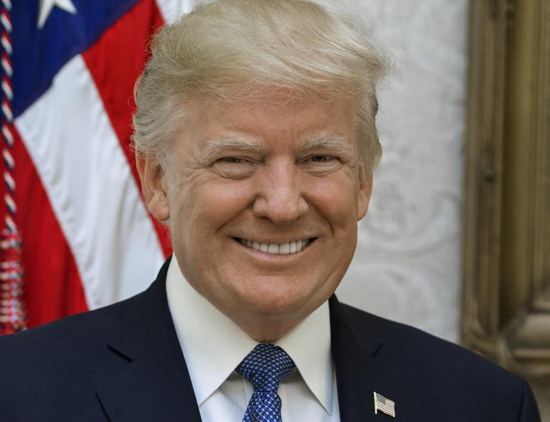 Le président américain est satisfait de son action sur l'économie américaine. Photo officielle de Donald Trump - 2017