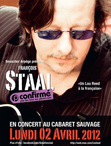 François Staal pour une soirée au Cabaret Sauvage