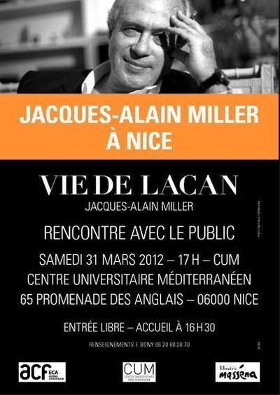 Jacques-Alain Miller, le célèbre psychanalyste et écrivain à Nice