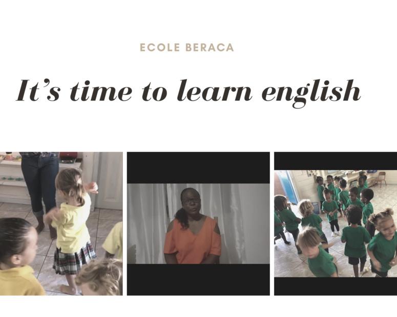 """C'est un délice de voir les enfants jongler avec les langues """", déclare Mme Martha Pierre, la directrice de l'école primaire Beraca. (c) Nouria Anseur."""