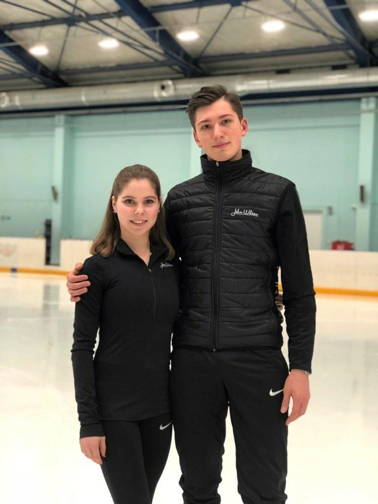 Anastasia and Alexander during practice in Russia. (c) Anastasia Mishina.
