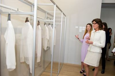SAR la princesse Caroline inaugure l'exposition. Photo (c) Eric Mathon / Palais princier