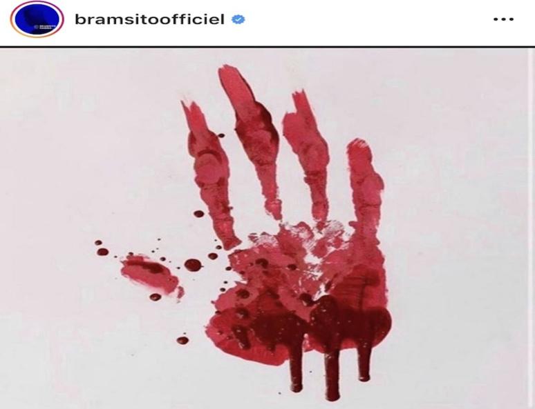Publication du rappeur Bramsito sur le réseau social Instagram en soutien aux massacres du Congo © Bramsitoofficiel