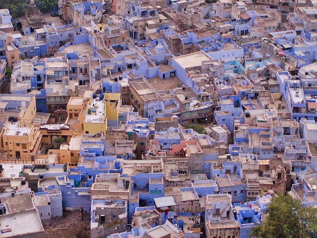 Vue aérienne de la ville de Jodhpur. Crédit photo: Pixabay / H.Hach