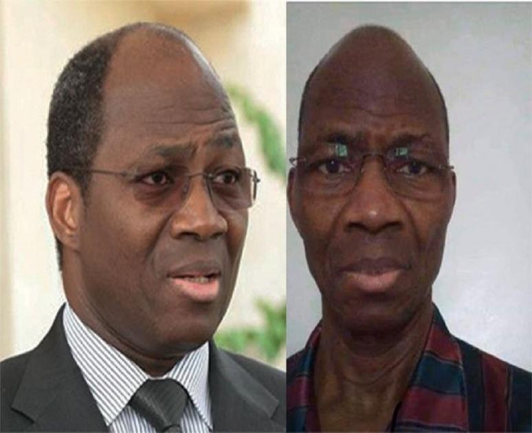 Montage photo de Djribil Bassolé avant et maintenant. (c) A.Tapsoba