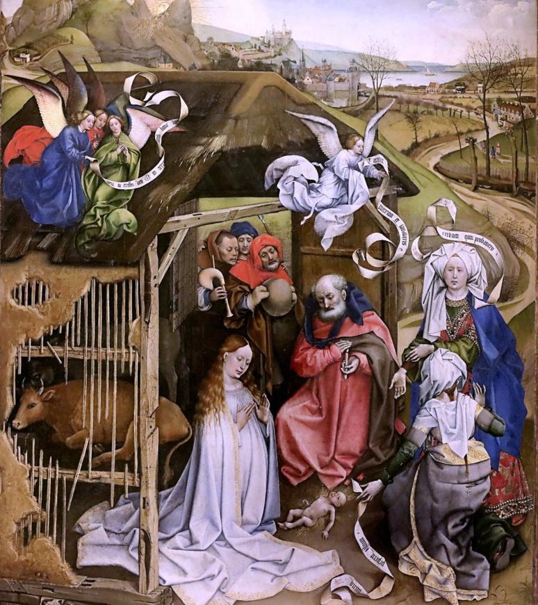 Robert Campin. La Nativité. (c) jean louis mazieres sur Foter.com / CC BY-NC-SA