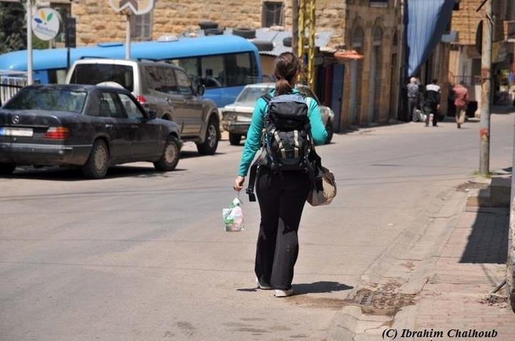 Equipée pour découvrir! Photo (C) Ibrahim Chalhoub