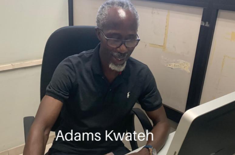Adams Kwateh, journaliste à France Antilles pendant 25 ans et président du club de presse de Martinique. (c) Nouria Anseur.